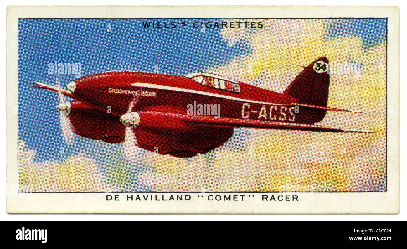 A De Havilland 'Comet' racer, produced for the 1934 England to Australia air race. Scott and Campbell Brown - Stock Image