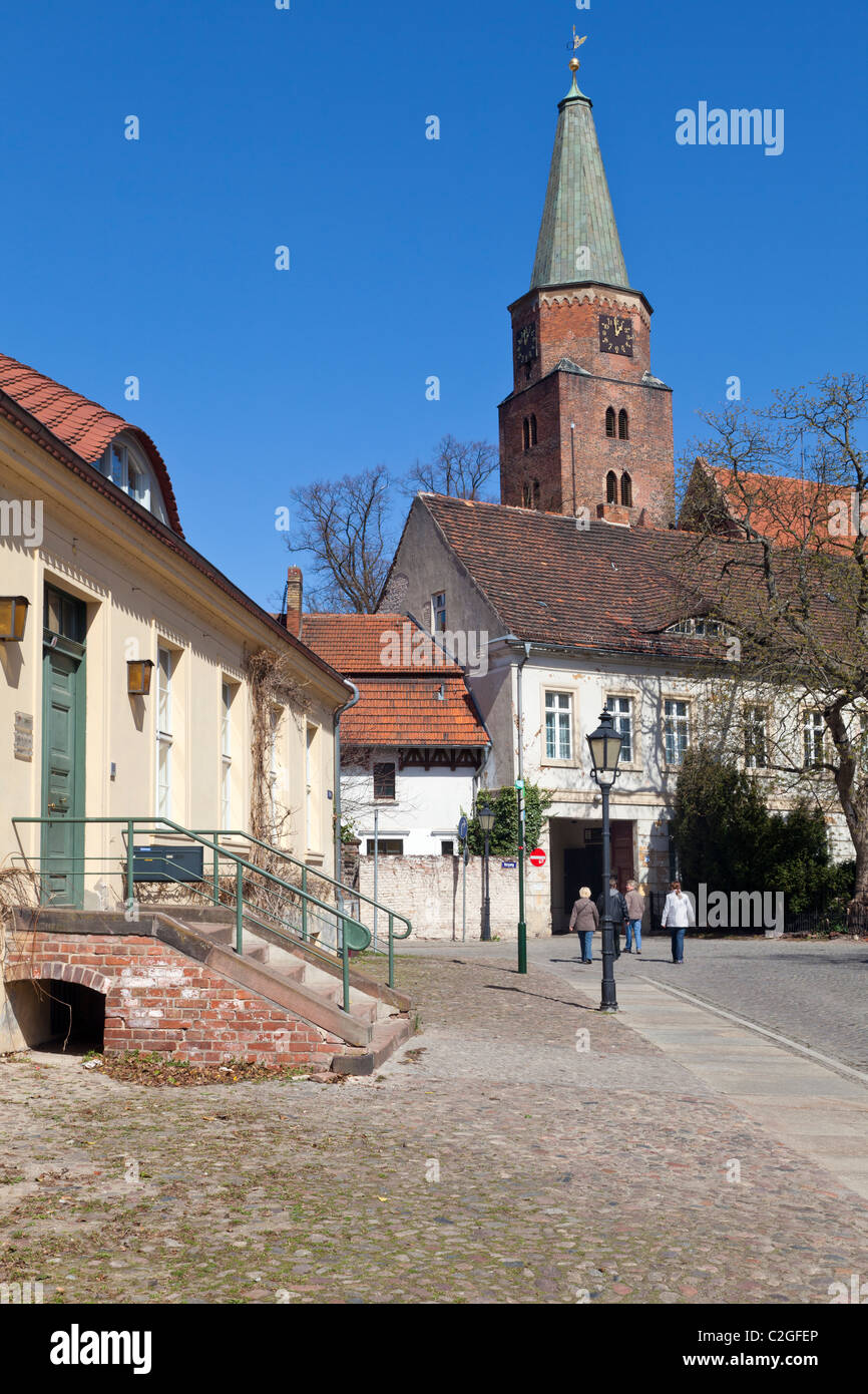 Dom St Peter and Paul from St Petri, Brandenburg an der Havel, Germany Stock Photo