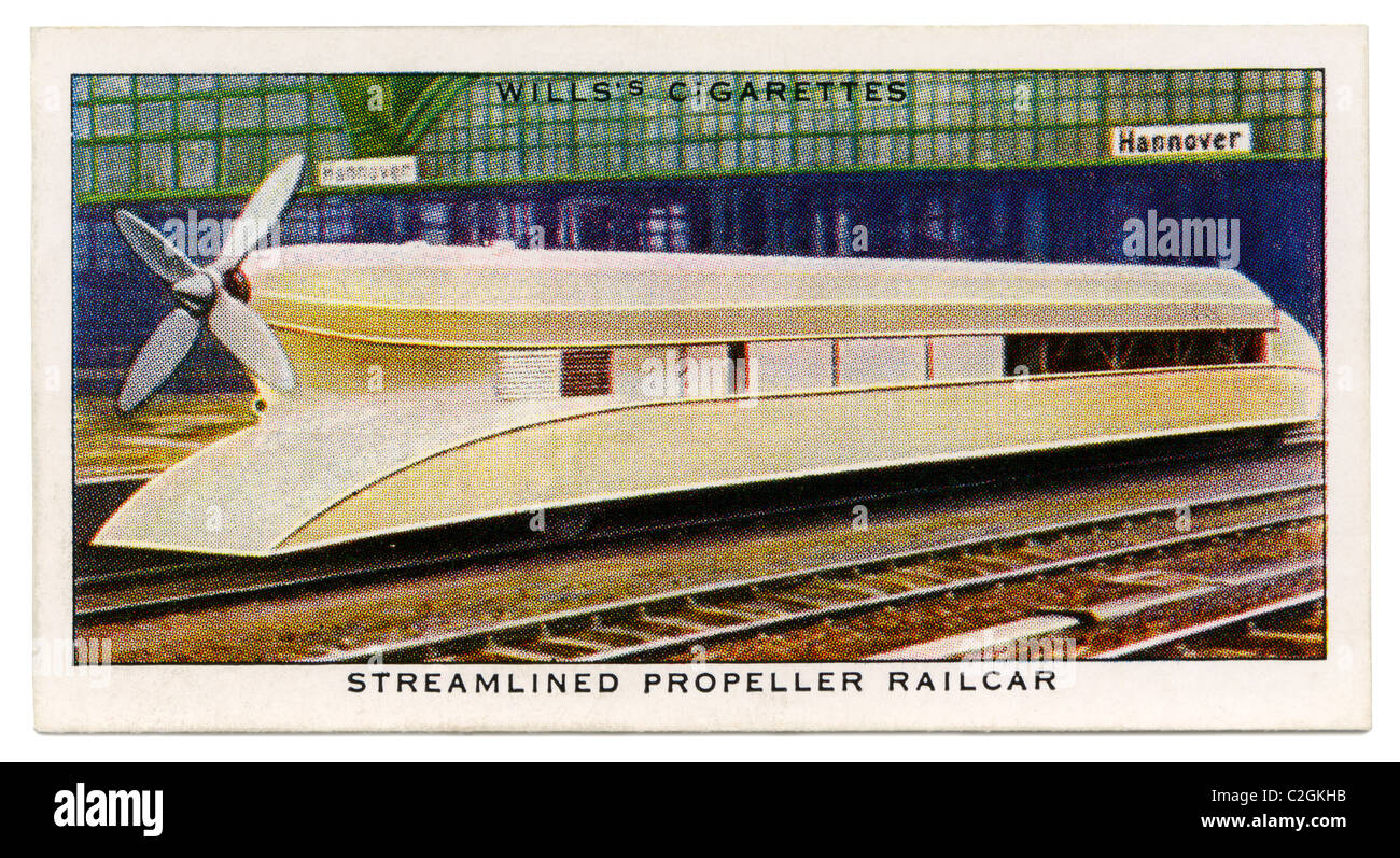 German propeller-driven railcar - this strange looking railway vehicle held the world speed record for rail transport - Stock Image