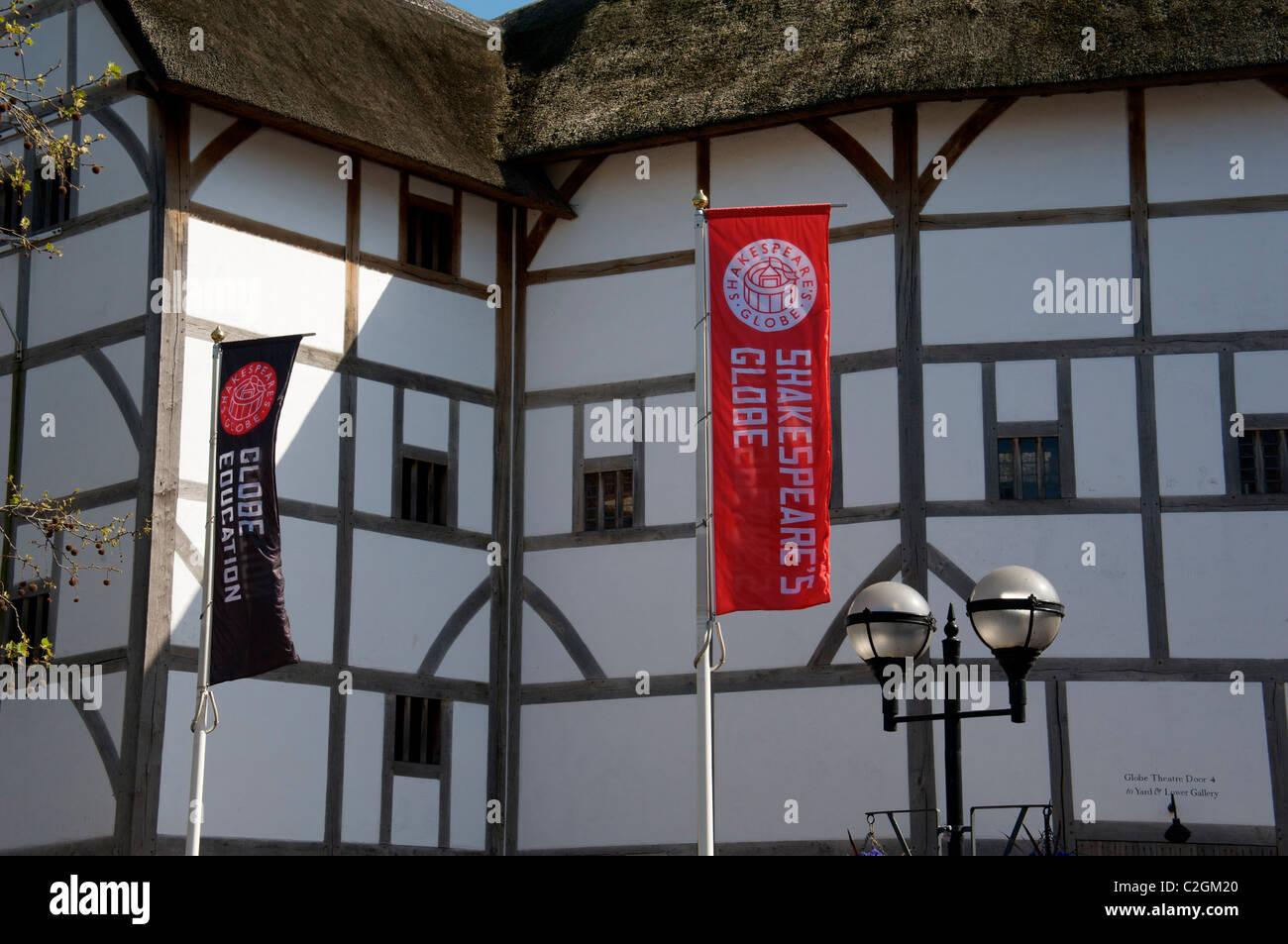 Shakespeare's Globe Theatre, Bankside, London, England UK - Stock Image