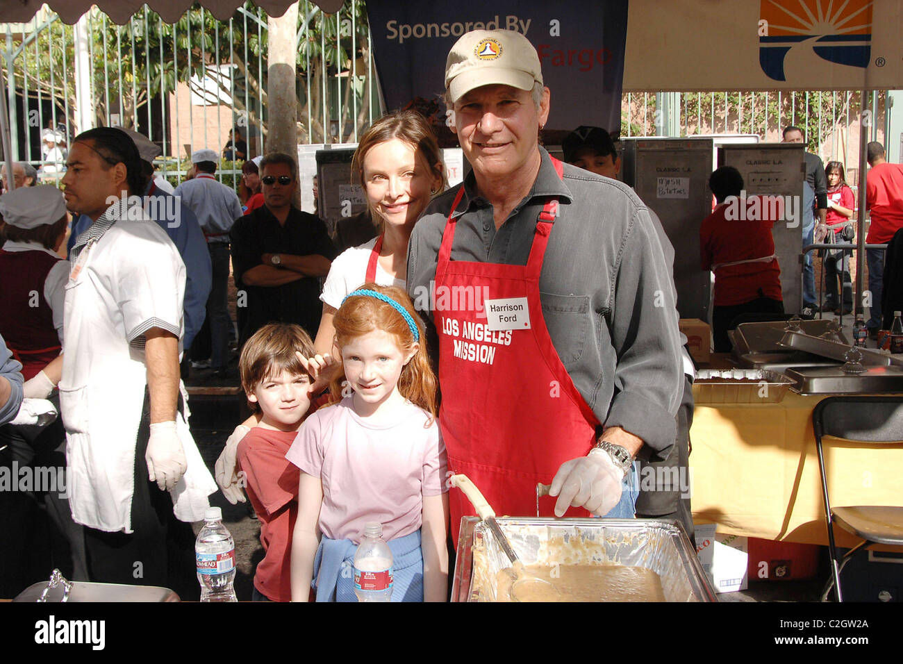 Harrison Ford, Calista Flockhart and son Liam 'Thanksgiving for the