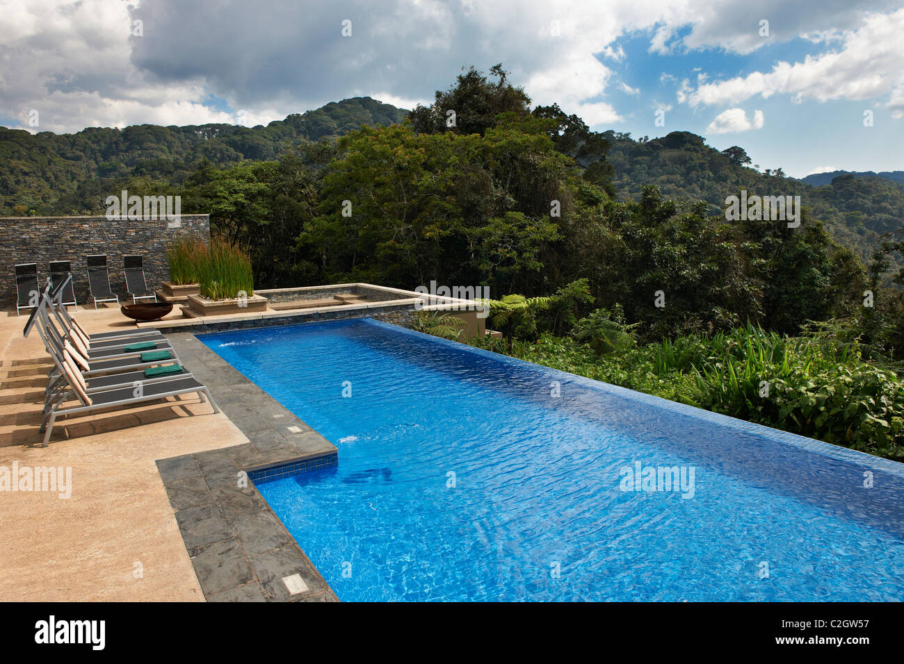Swimming Pool In Five Star Luxury Nyungwe Forest Lodge Parc National Stock Photo 36021027 Alamy