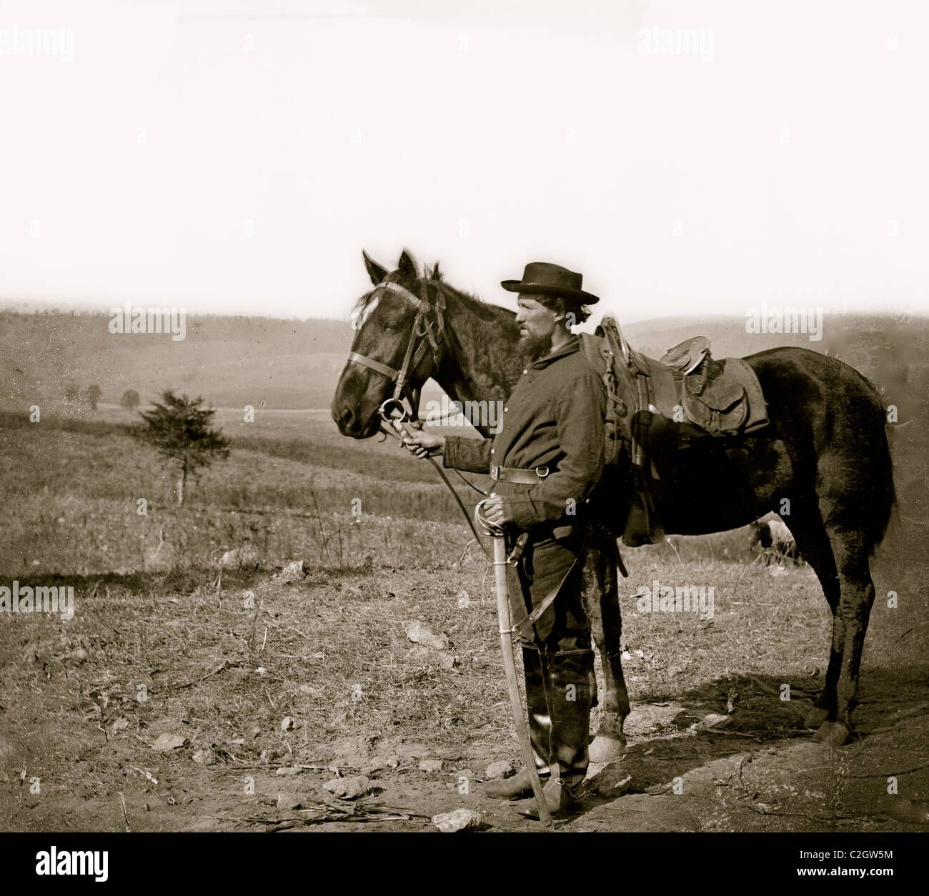 Antietam, Md. A cavalry orderly - Stock Image
