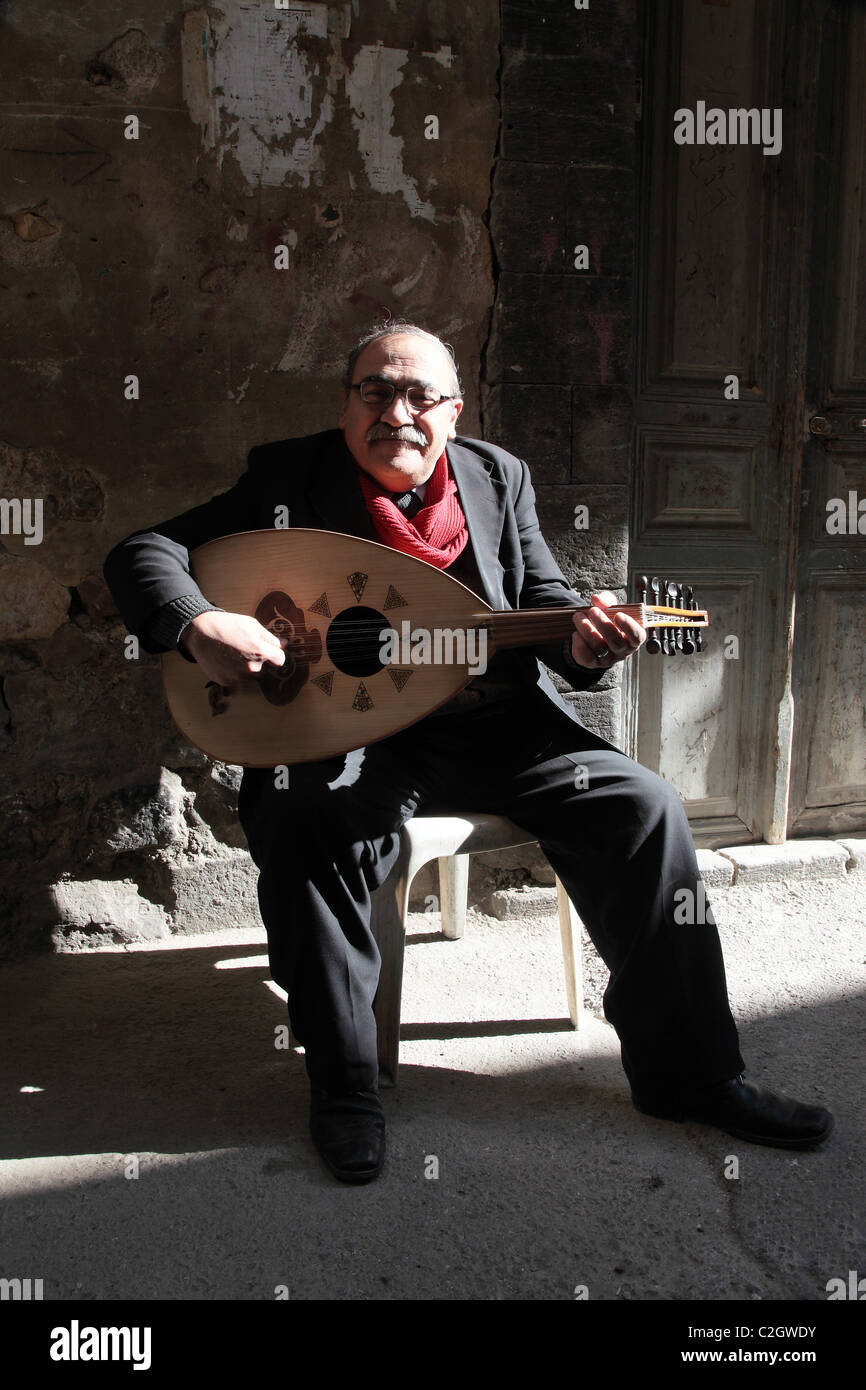 Loot player, Damascus, Syria - Stock Image