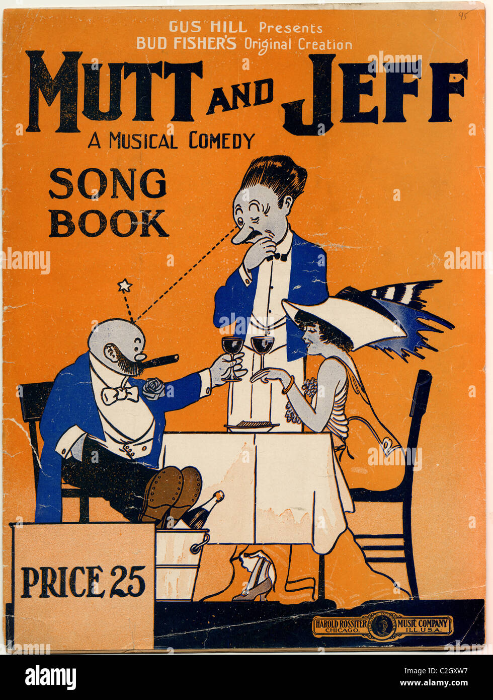 Mutt & Jeff A Musical Comedy Song Book - Stock Image