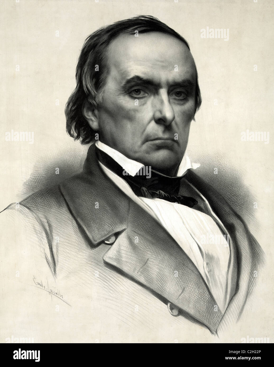 Daniel Webster leading American statesman and senator during the nation's Antebellum Period. - Stock Image