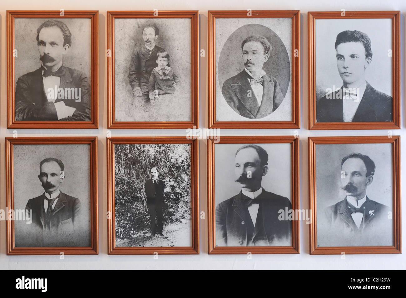Havana. Cuba. Portraits of José Marti, Casa Natal de José Marti / Birthplace of José Marti, Habana - Stock Image