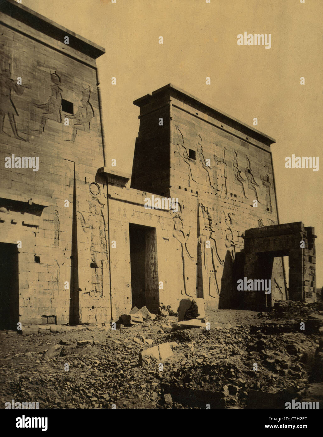 Temple of Isis on the Island of Philae, Egypt Stock Photo