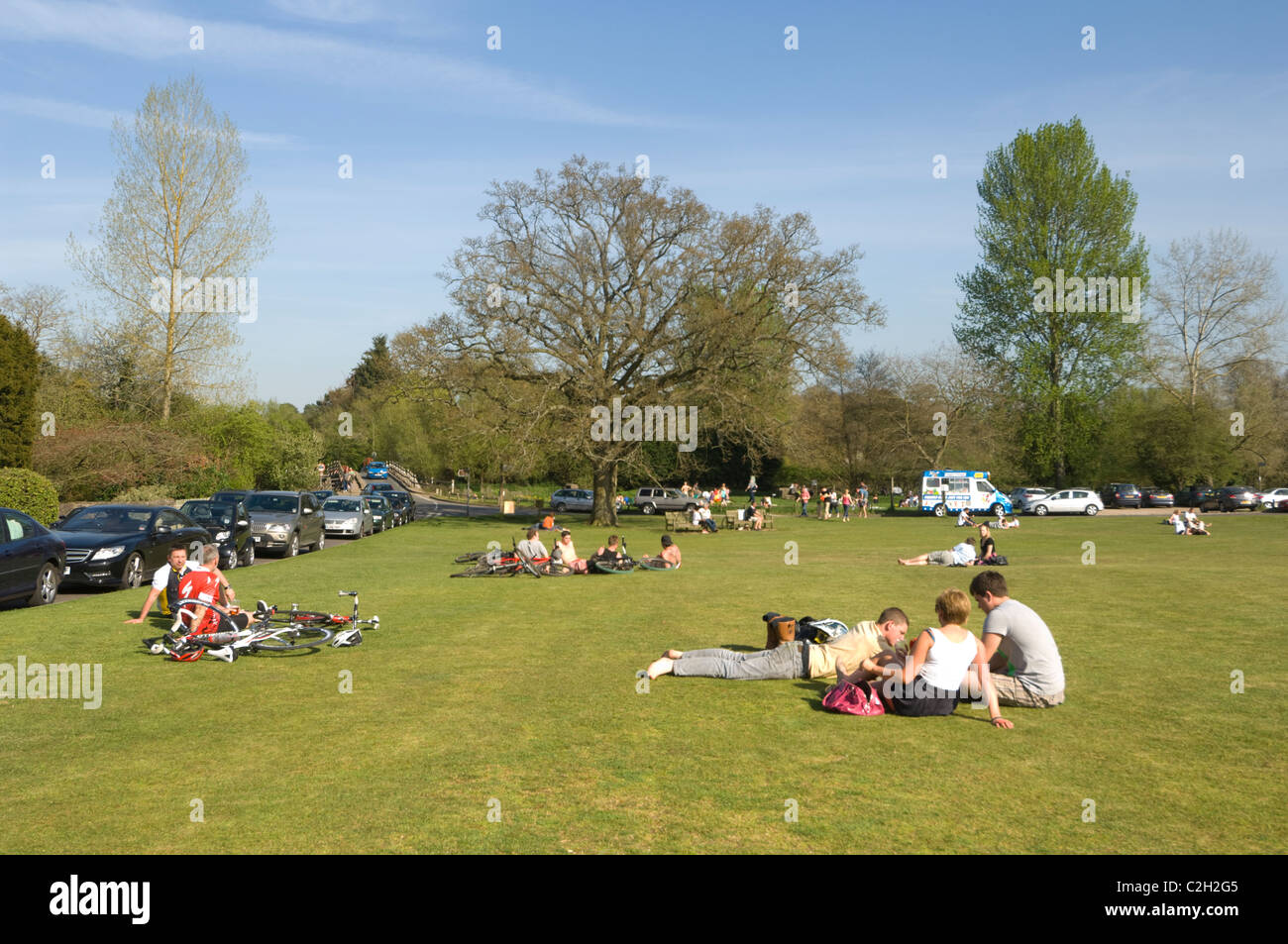 Tilford Green near Farnham Surrey UK - Stock Image