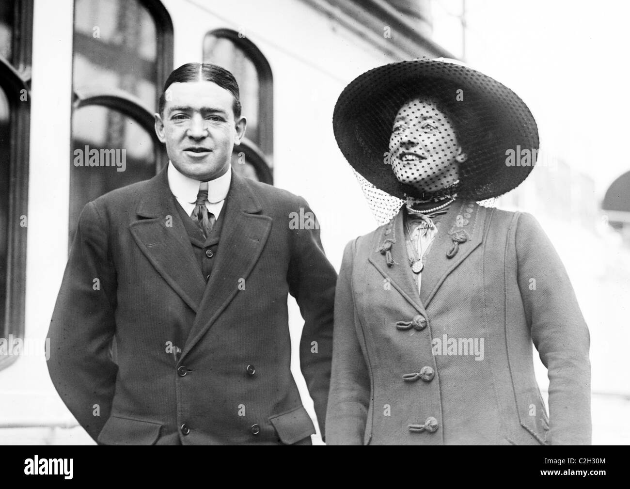 Sir Ernest Shackleton and wife Emily Dorman - Stock Image