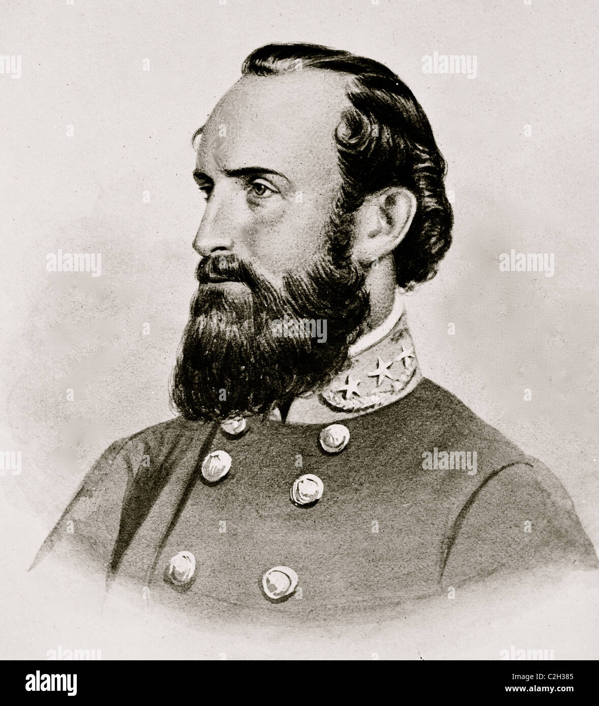 Stonewall Jackson, Confederate General Portrait - Stock Image