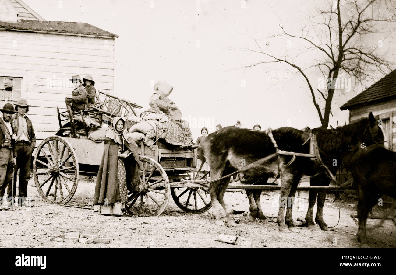 Departure from the old homestead - Stock Image