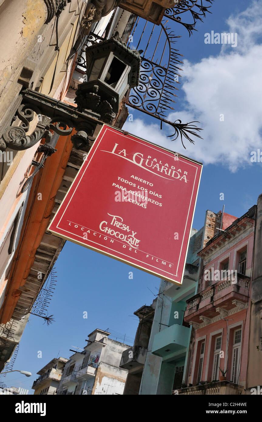 Havana. Cuba. Centro Habana. La Guarida Paladar. - Stock Image