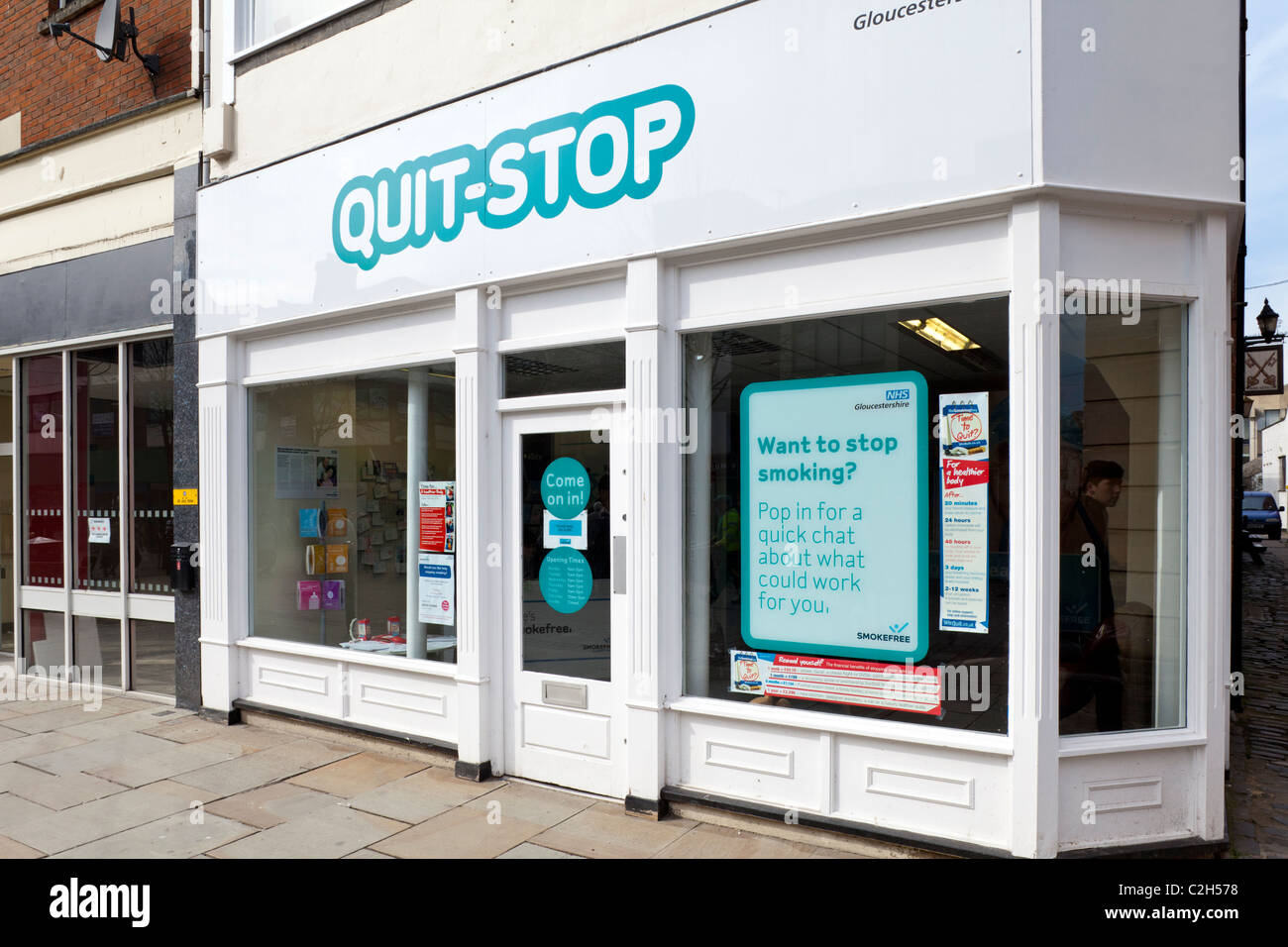 Quit Stop Smoking Cessation Information shop in Gloucester - Stock Image