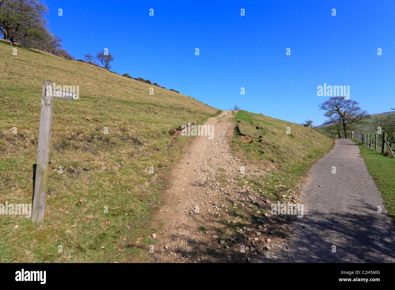 Pennine Bridleway, Hayfield, Derbyshire, Peak District National Park, England, UK. - Stock Image