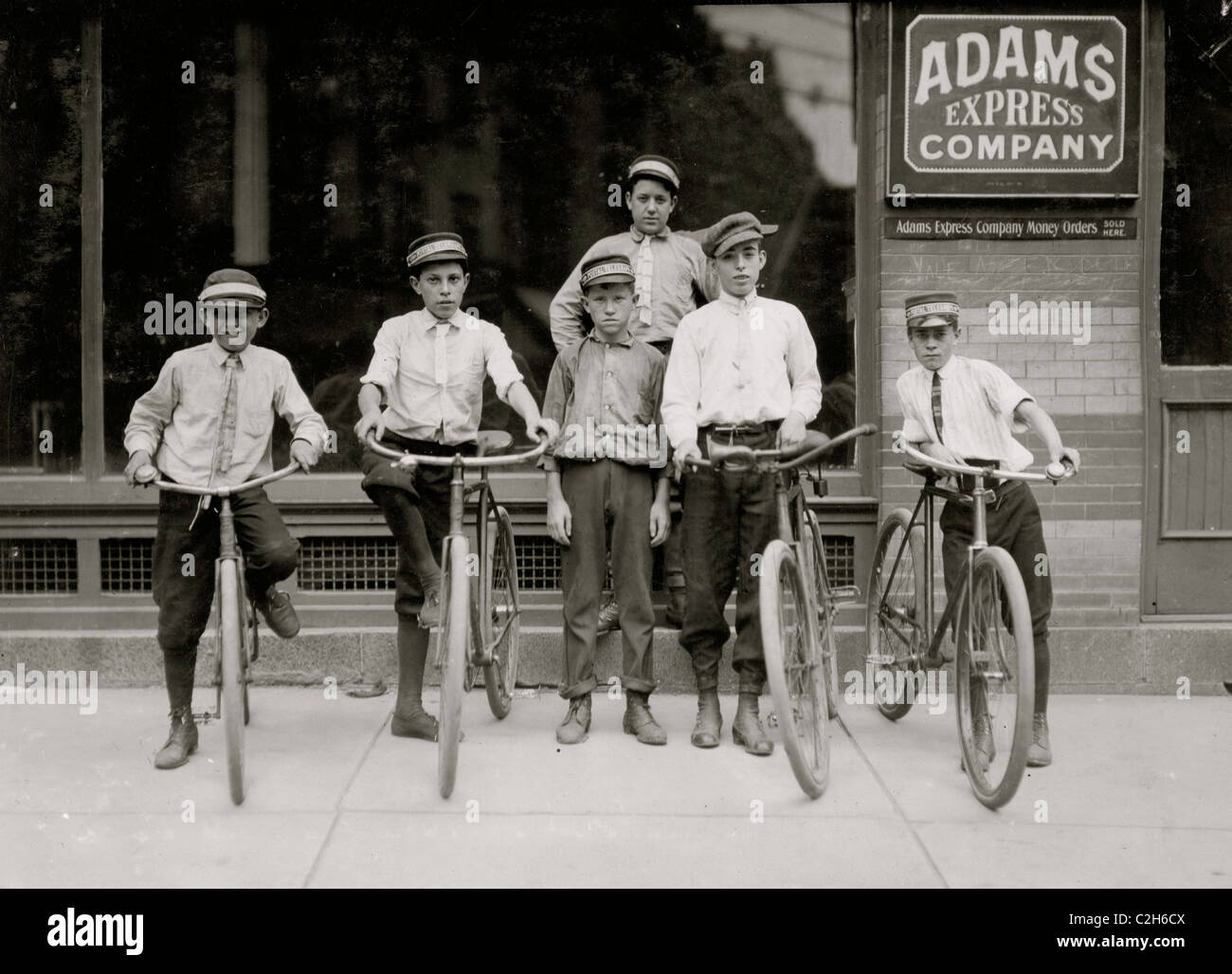 A typical group of Postal Messengers in Norfolk, Va. - Stock Image