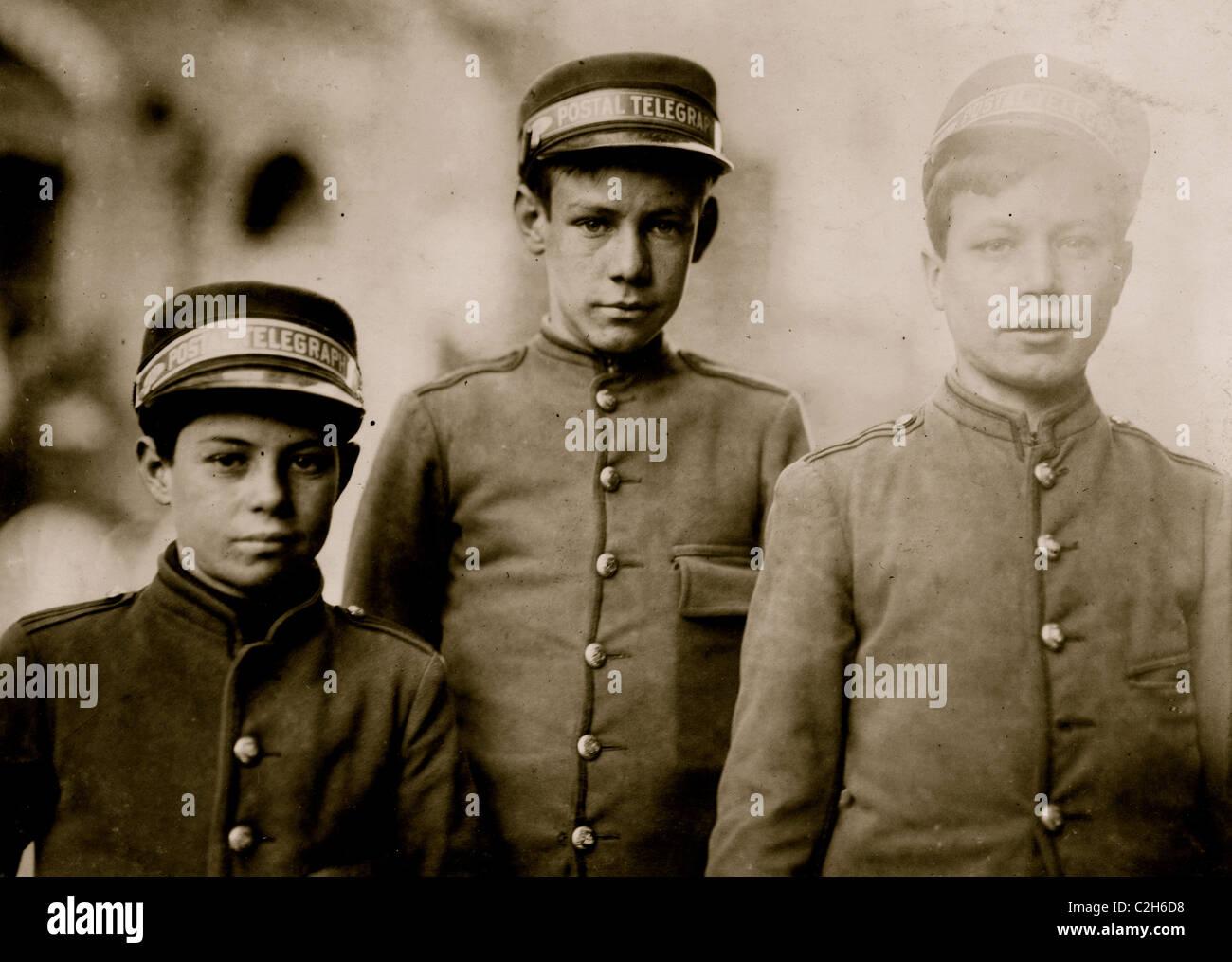 Postal Telegraph Messengers. - Stock Image
