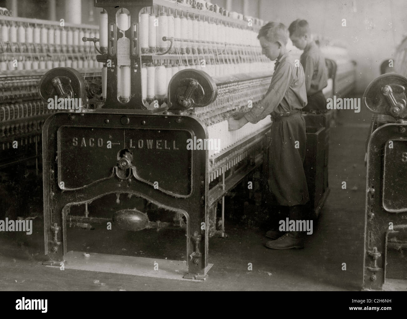 Doffers - Boss said 14 and 15 years old  Indian Orchard Cotton Mill