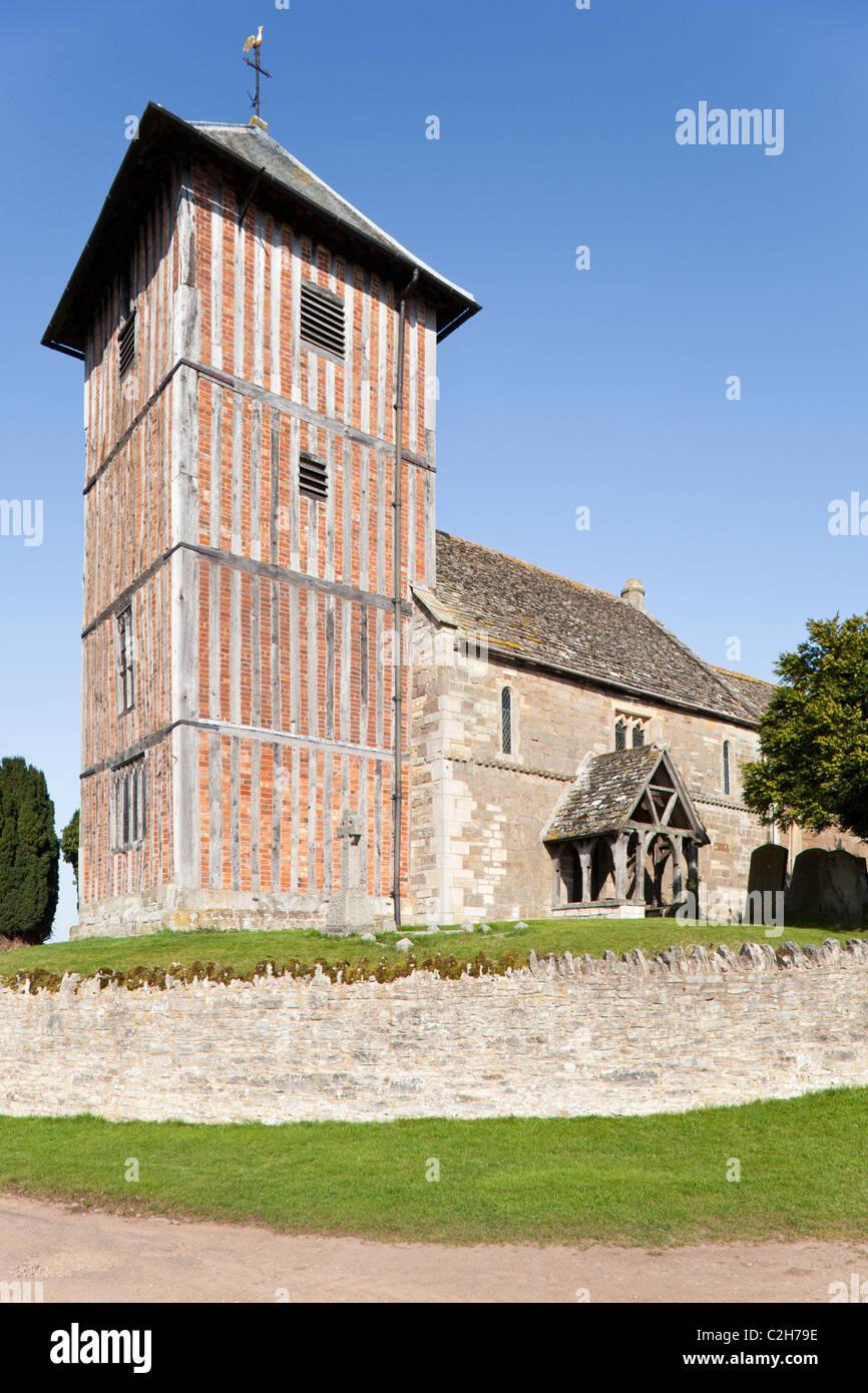 St Mary the Virgin church at Upleadon, Gloucestershire, England, UK - Stock Image