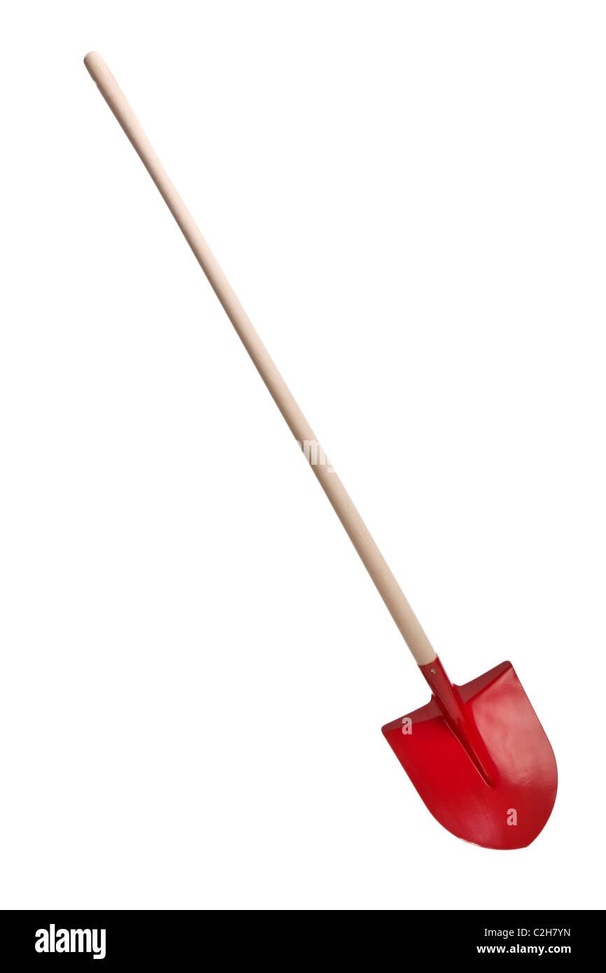 the shovel on white background - Stock Image