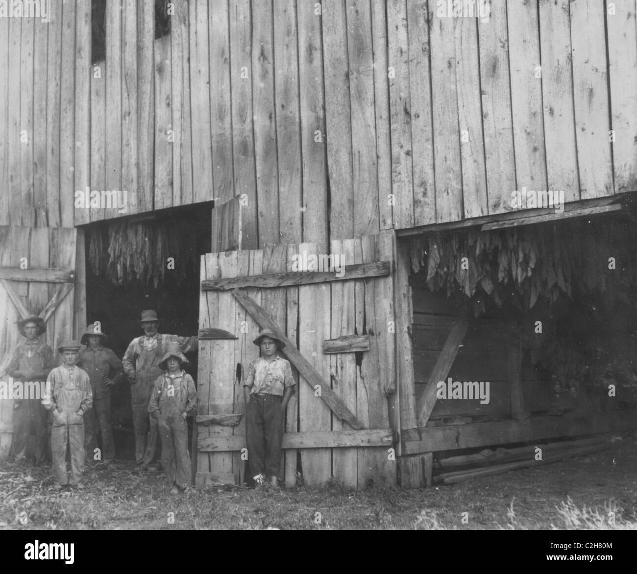 Tobacco drying Barn of Daniel Barrett - Stock Image