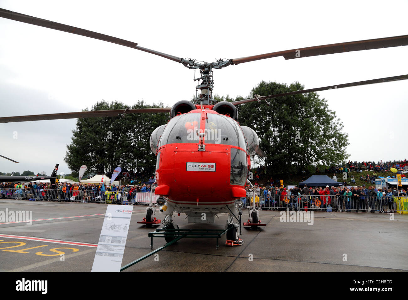 HeliSwiss presents its heavy lift Helicopter Kamov at the Airshow '100 years Swiss aviation' - Stock Image