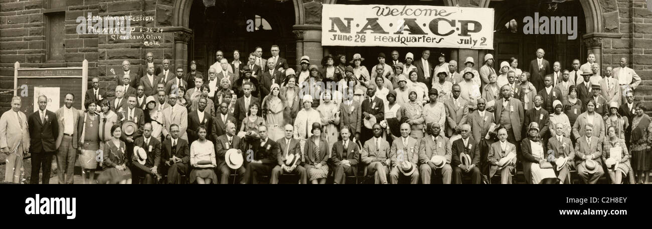 20th Annual session of the N.A.A.C.P., 6-26-29, Cleveland, Ohio - Stock Image