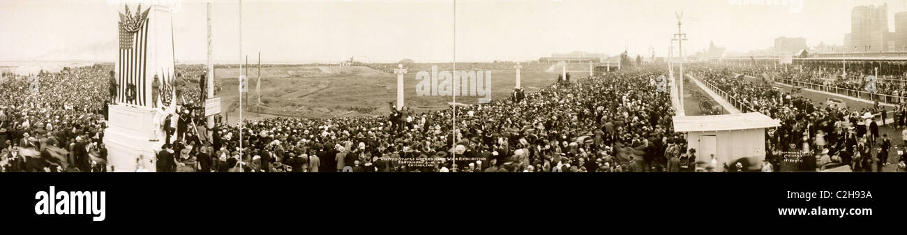 General view, United States Government War Exhibition, September 2-15, 1918, Chicago, Ill. Stock Photo