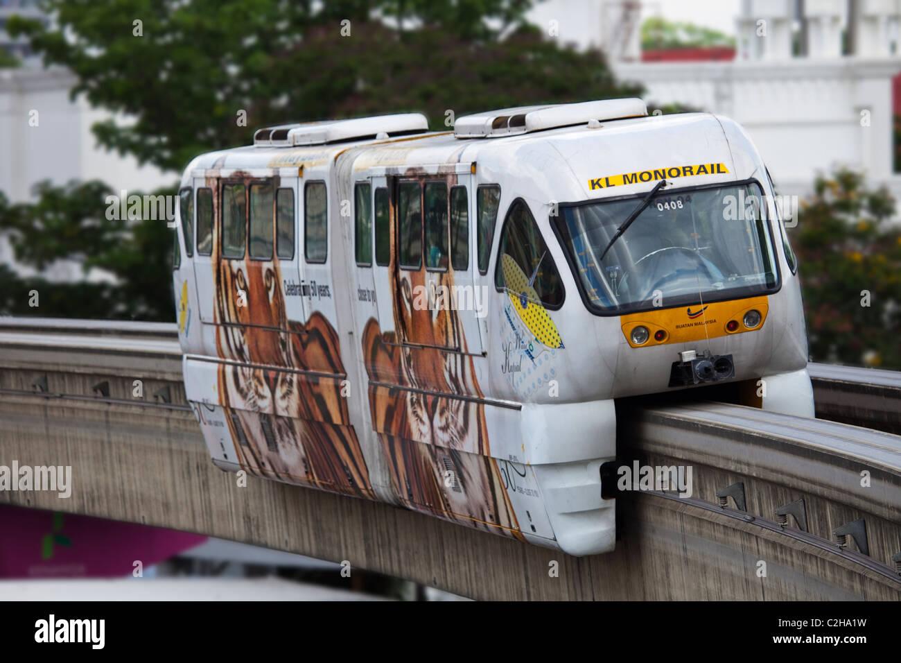 KL Monorail, Kuala Lumpur - Stock Image