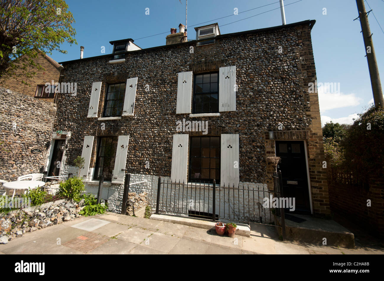 houses broadstairs Kent UK - Stock Image