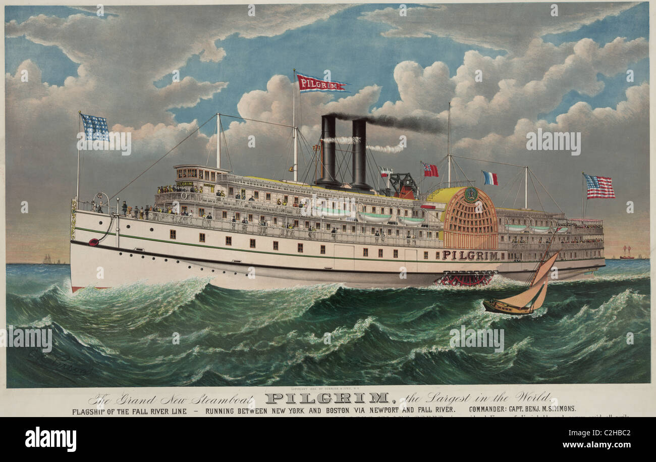 Pilgrim - Largest Steamship in the World - Stock Image