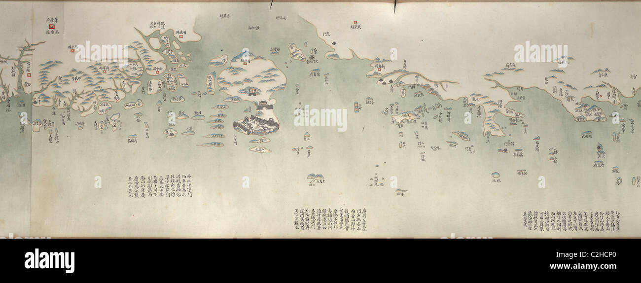 Coastal Map of China - Stock Image
