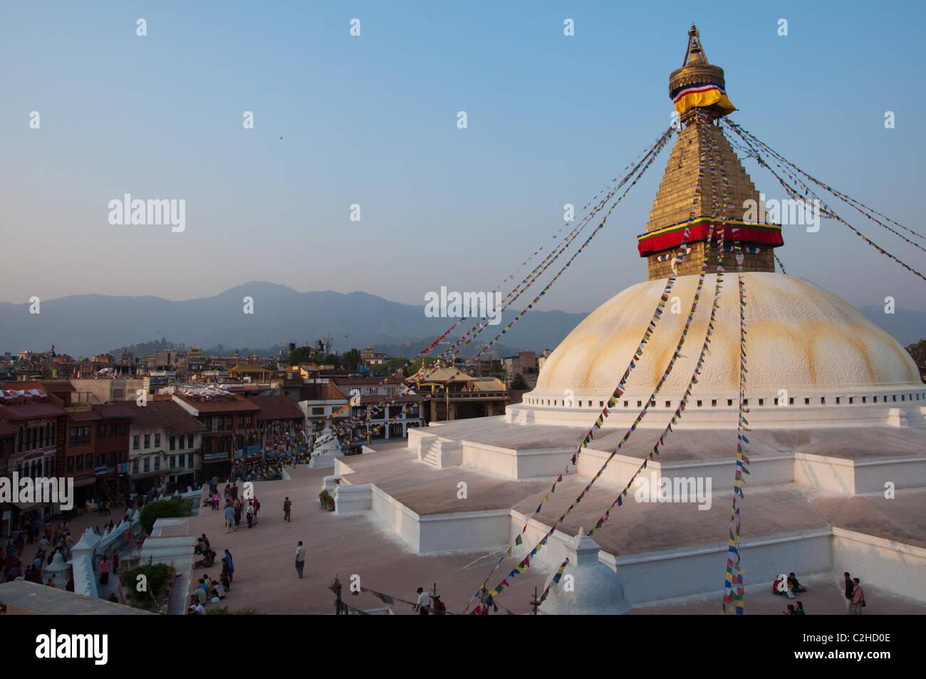 Bodnath Stupa, Kathmandu, Nepal - Stock Image