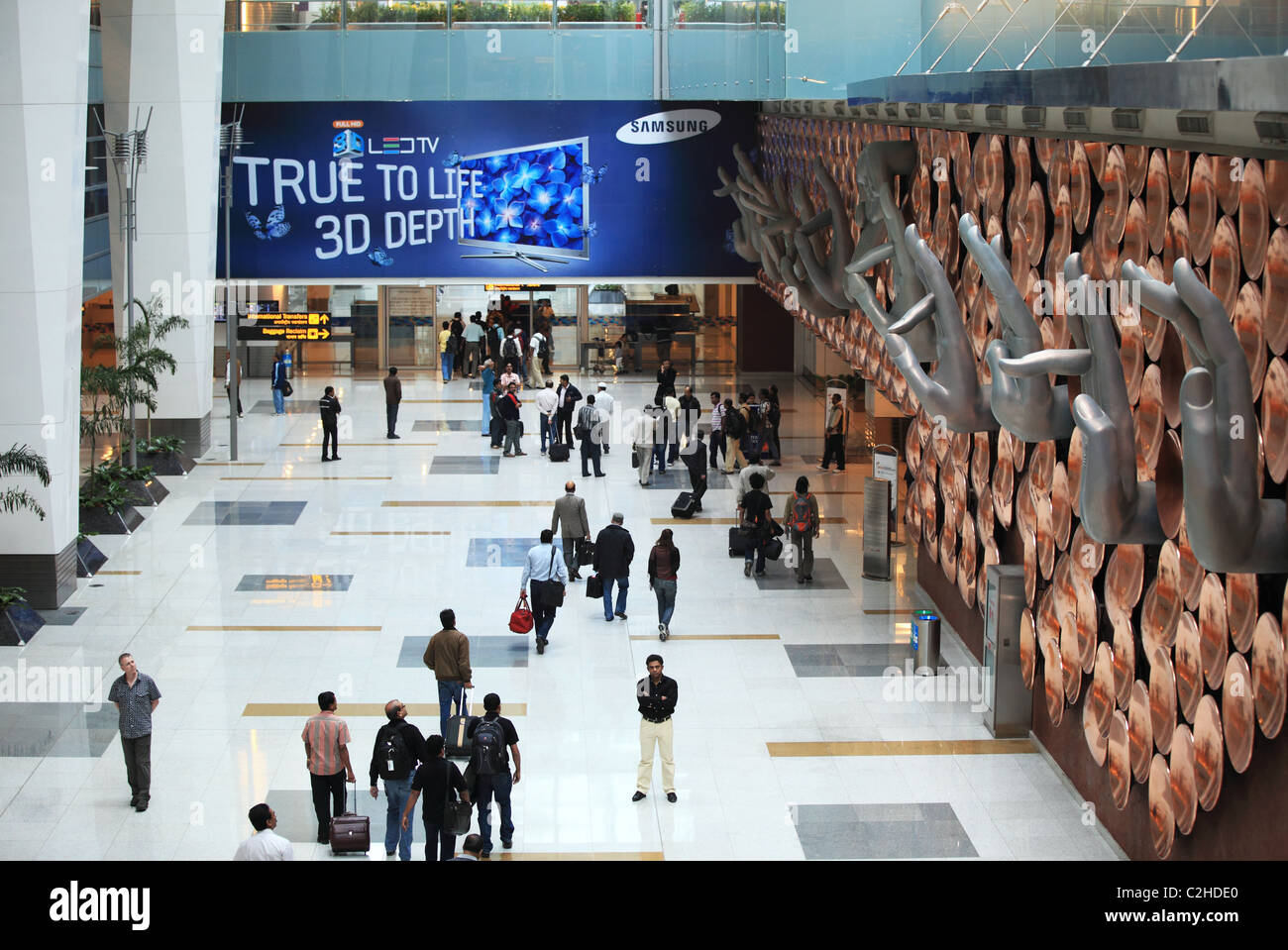 People at the Delhi airport North India Asia - Stock Image