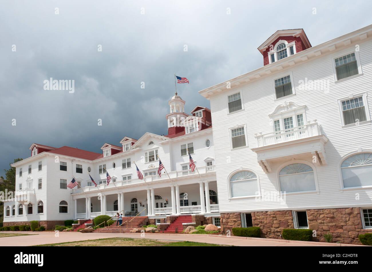 Colorado, Estes Park, Historic Stanley Hotel opened 1909 - Stock Image