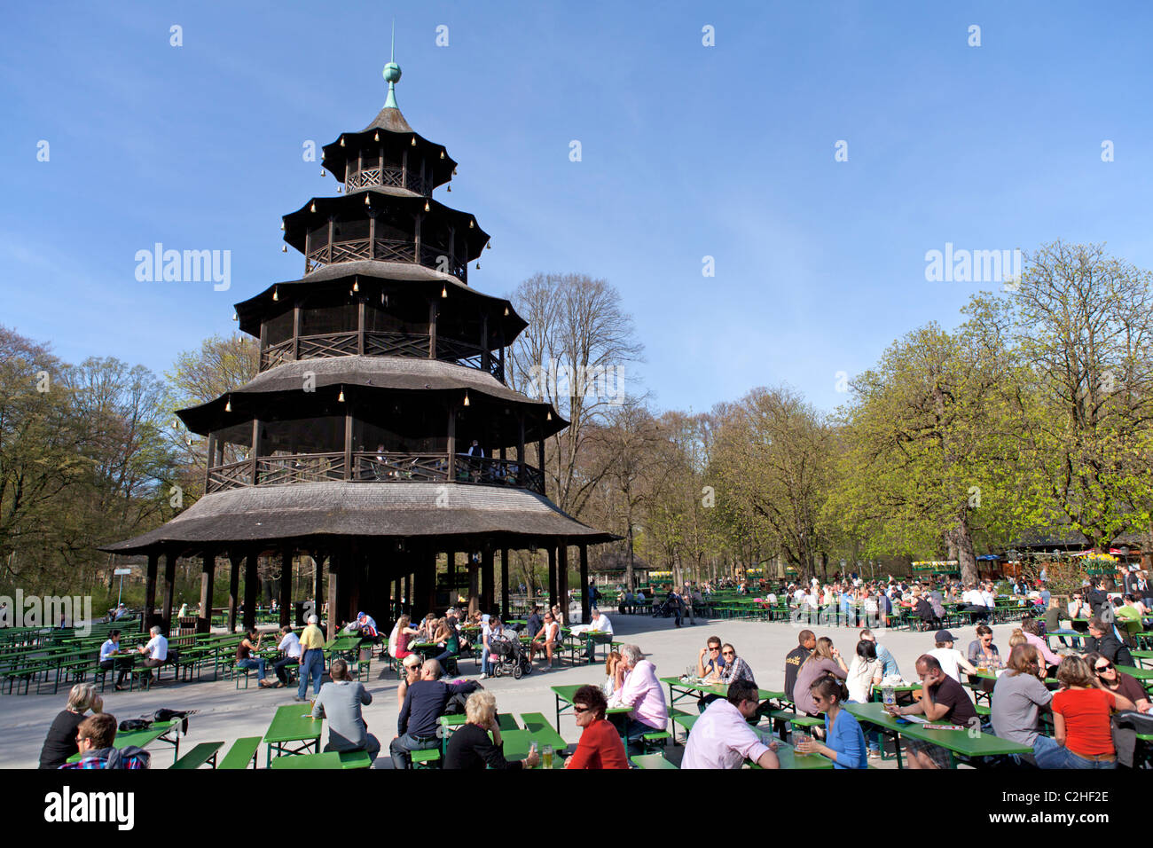 chinese tower munich stock photos chinese tower munich stock images alamy. Black Bedroom Furniture Sets. Home Design Ideas