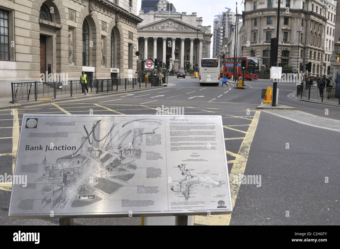 Bank Junction, London, UK. - Stock Image