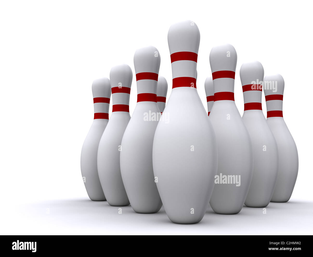 bowling pins. 3d - Stock Image