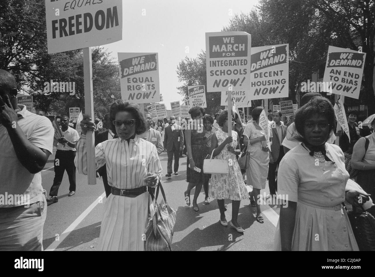 Civil Rights March in DC - Stock Image