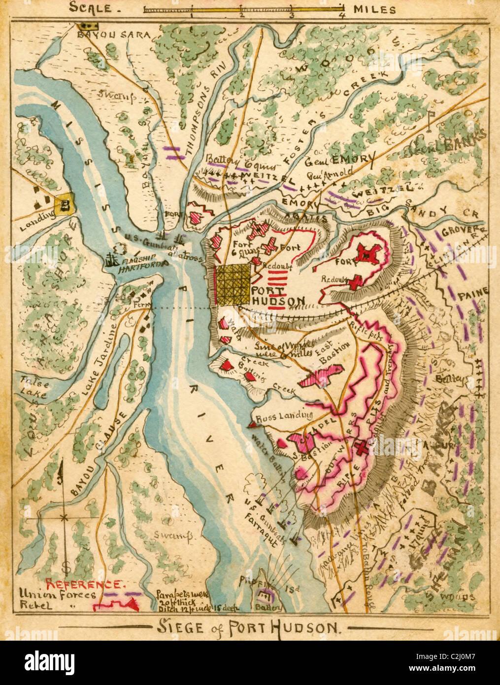 Siege of Port Hudson - Stock Image