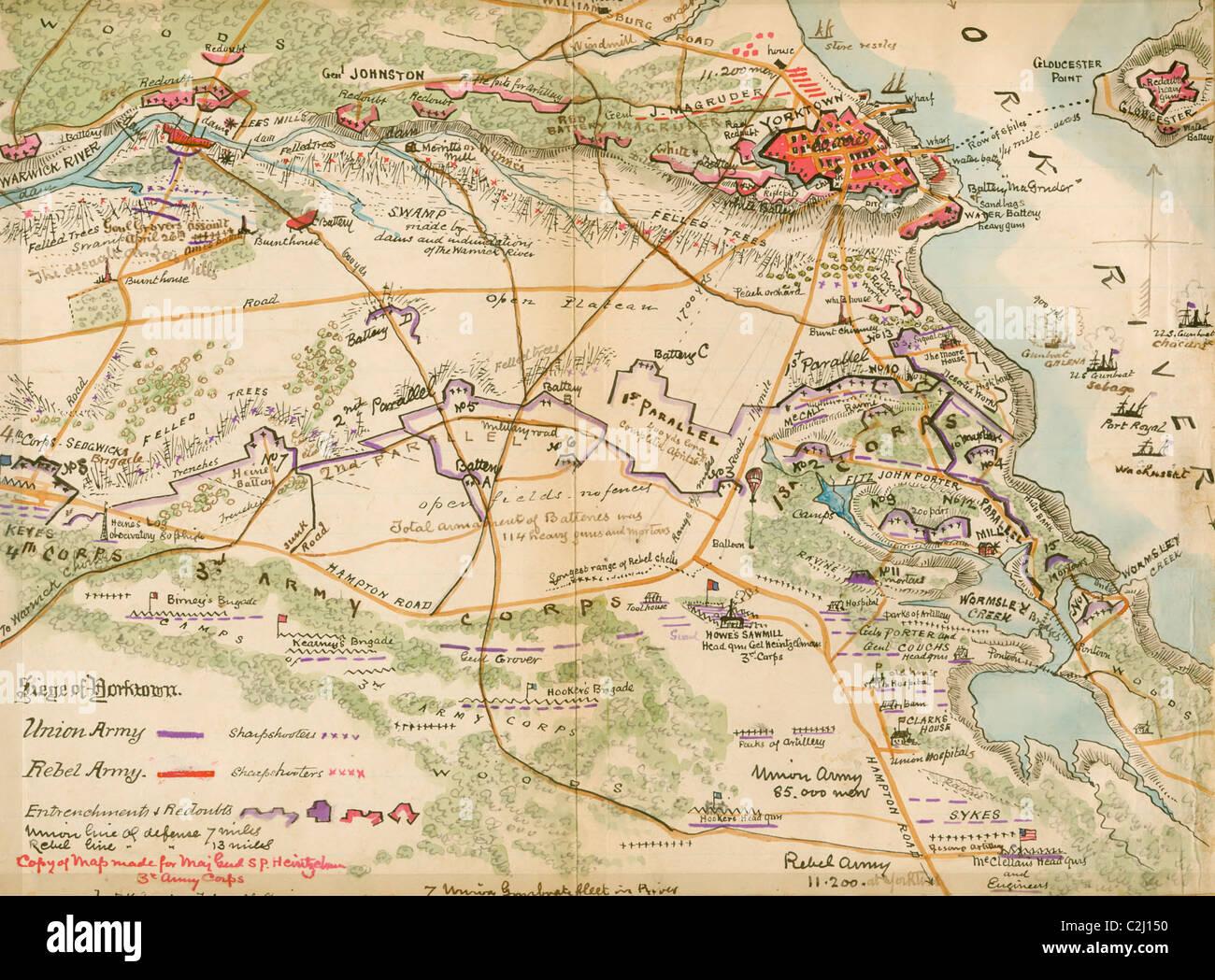 Siege of Yorktown, Virginia - Stock Image