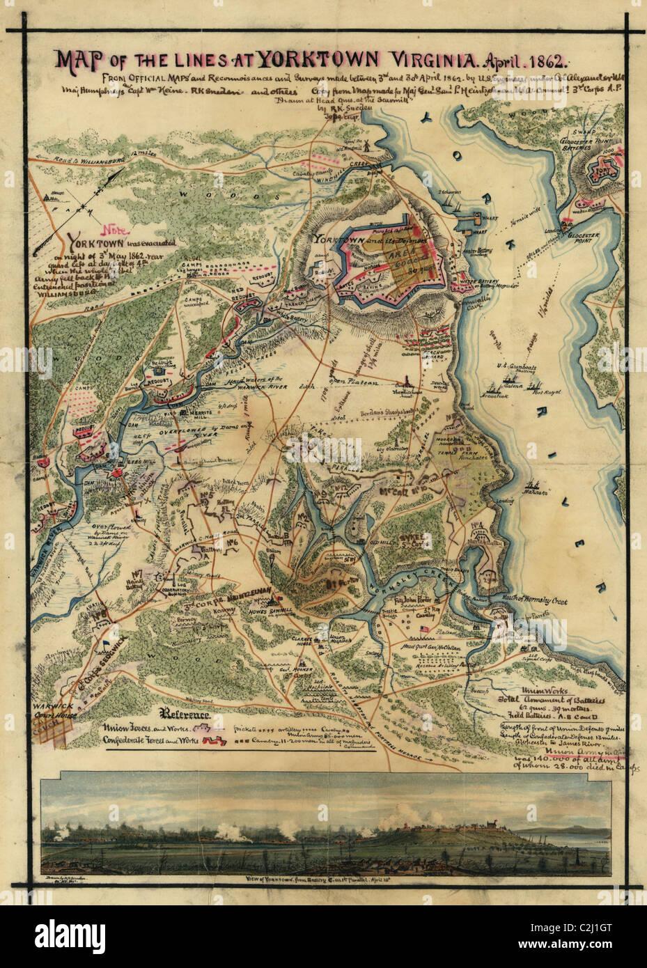 Yorktown Siege - Stock Image