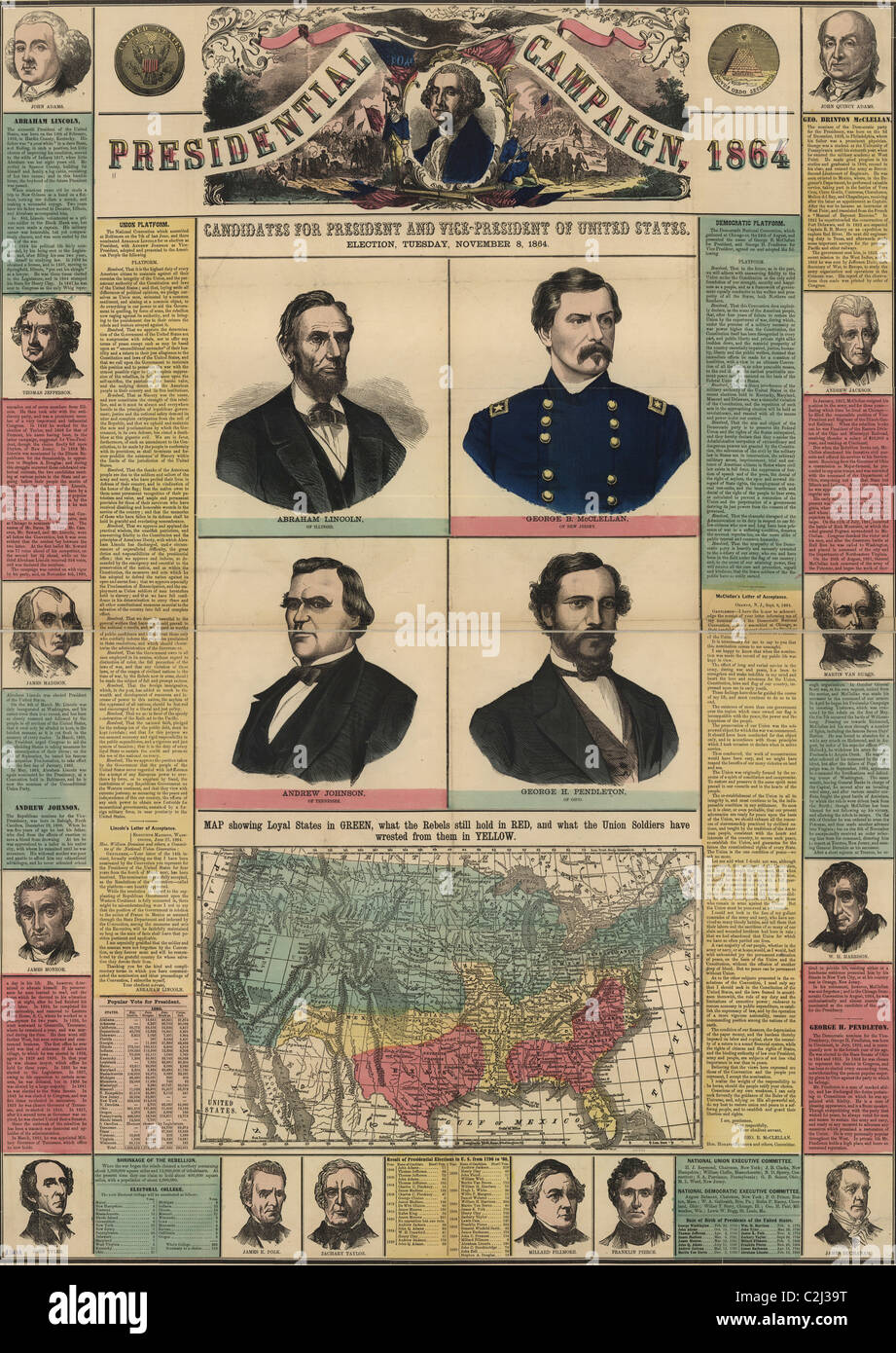 Presidential Campaign of 1864 - Stock Image