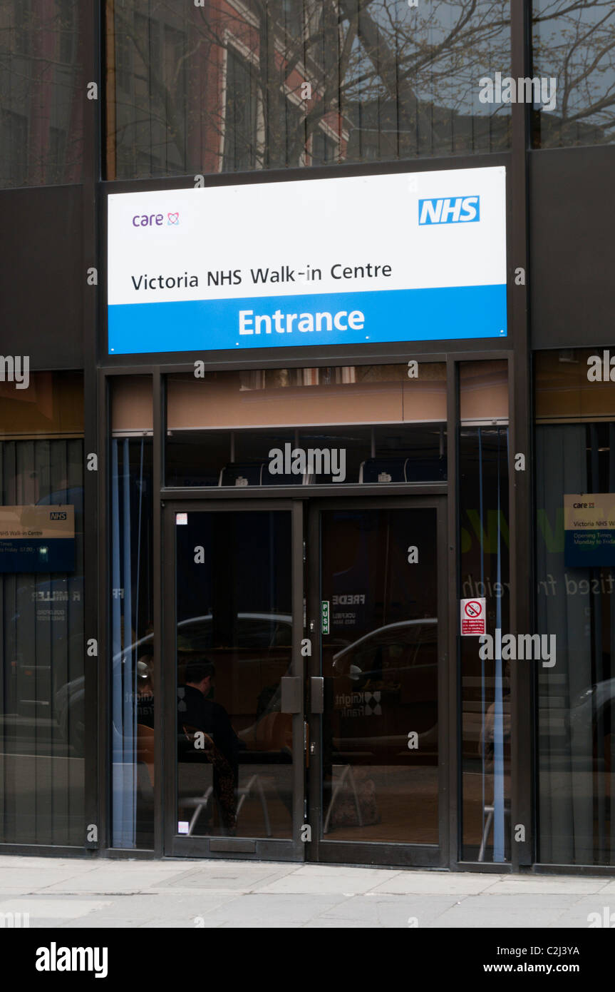 A NHS Walk-in surgery in central London within the Westminster Primary Care Trust area. - Stock Image