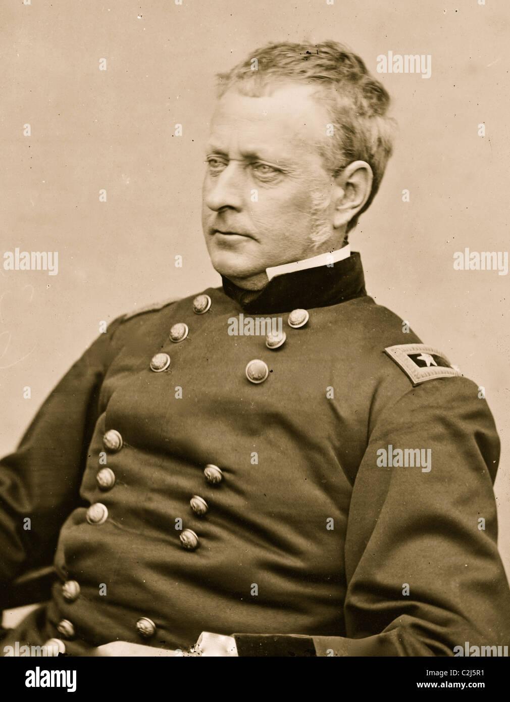 Portrait of Union General 'Fighting Joe Hooker' - Stock Image