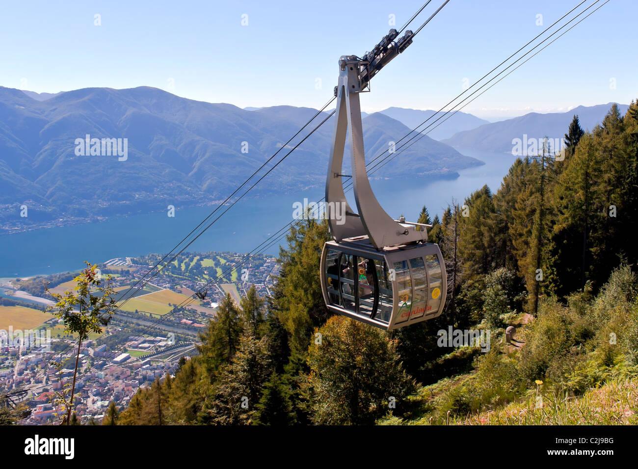 Cardada - funicular in Locarno - Stock Image