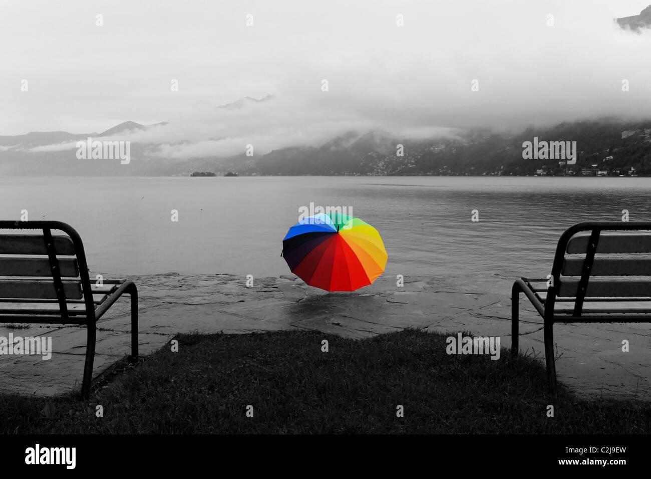 Ascona - Switzerland - in the rain Stock Photo
