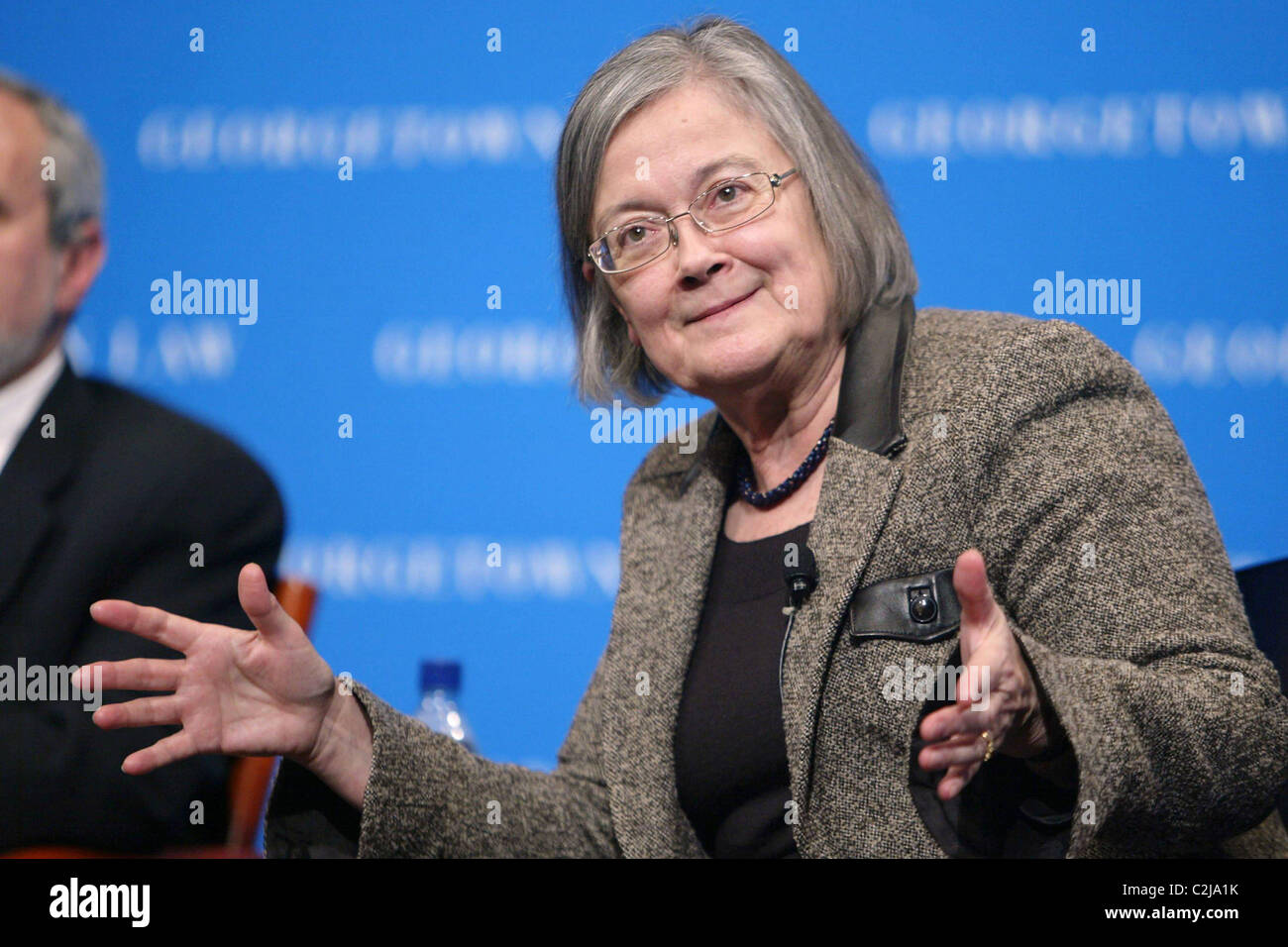 Brenda Hale, Baroness Hale of Richmond The Supreme Court Fellows along with Georgetown Law School invited Brenda - Stock Image
