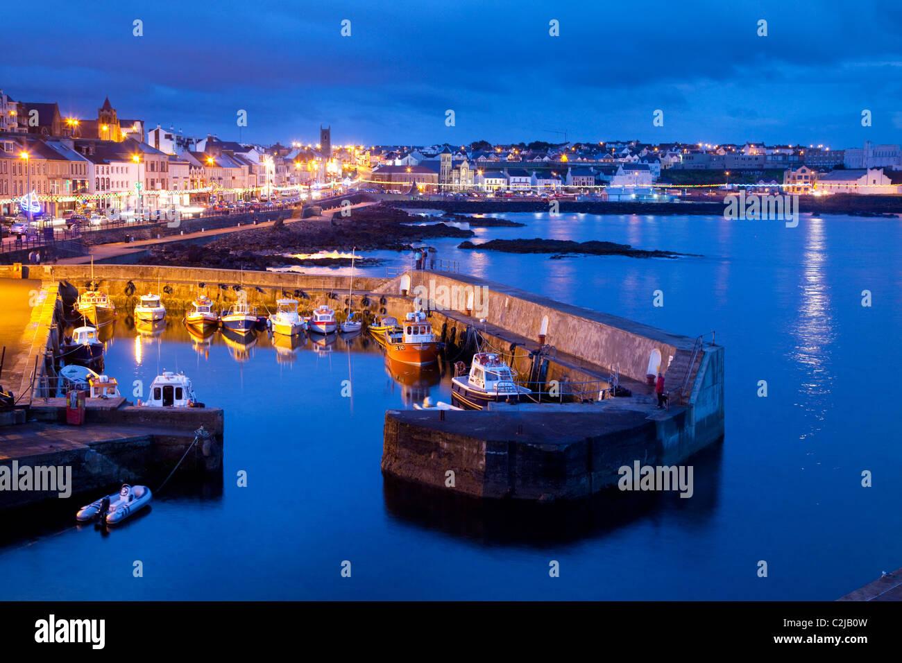 Portstewart at dusk, Co Derry, Northern Ireland. - Stock Image