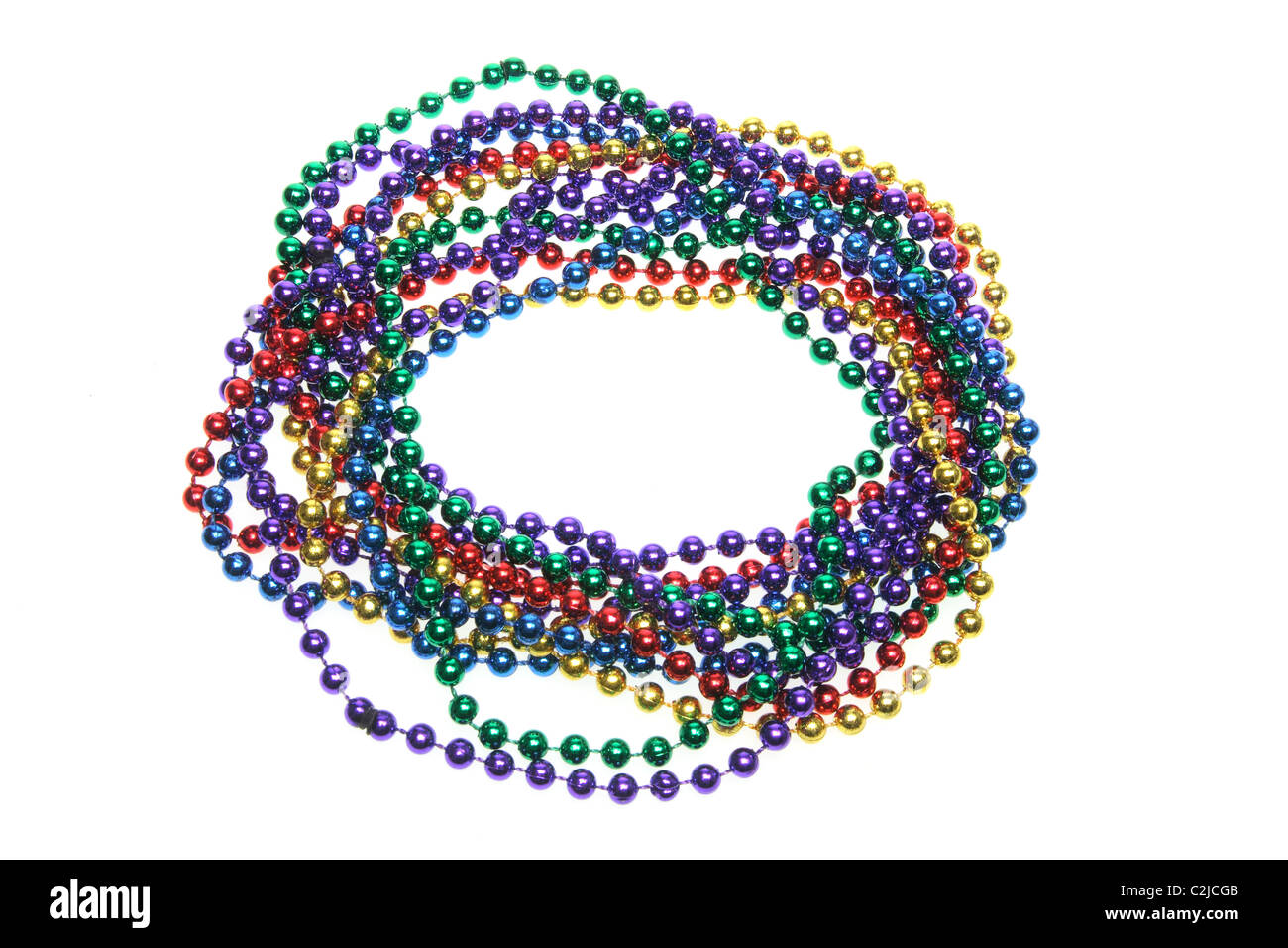 Strings of Color Beads - Stock Image